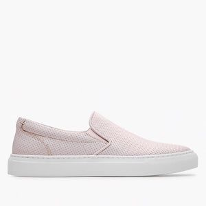 GREATS Blush Wooster Perforated Slip On Sneakers